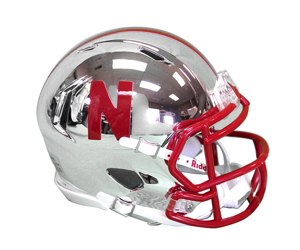 Huskers Chrome Mini Helmet