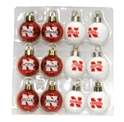 12 Pk Mini Ornaments Nebraska Cornhuskers, Nebraska  Holiday Items, Huskers  Holiday Items, Nebraska 12 Pk Mini Ornaments, Huskers 12 Pk Mini Ornaments