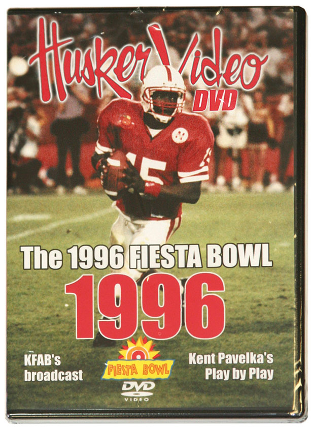 1996 Fiesta Bowl vs. Florida Husker football, Nebraska cornhuskers merchandise, husker merchandise, nebraska merchandise, nebraska cornhuskers dvd, husker dvd, nebraska football dvd, nebraska cornhuskers videos, husker videos, nebraska football videos, husker game dvd, husker bowl game dvd, husker dvd subscription, nebraska cornhusker dvd subscription, husker football season on dvd, nebraska cornhuskers dvd box sets, husker dvd box sets, Nebraska Cornhuskers, 1996 Fiesta Bowl, Husker Vision Footage