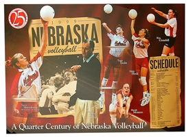 1999 Volleyball Schedule Poster - 25 Years of Husker VB Nebraska Cornhuskers, 1999 Iowa State Game Program