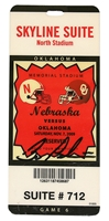 2009 Pelini Autographed OU Game Ticket Nebraska Cornhuskers, 2004 CU Ticket