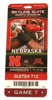 2012 Minnesota Game Skybox Pass Nebraska Cornhuskers, 2008 San Jose St. Game Skybox Pass
