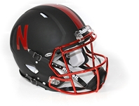 2015 Authentic Husker Alternate Speed Helmet Nebraska cornhuskers, husker football, nebraska merchandise, husker merchandise, black husker helmet, alternate uniform, techfit uniform