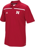 2015 Adidas Coaches Sideline Polo Nebraska Cornhuskers, Nebraska  Mens Polo's, Huskers  Mens Polo's, Nebraska Polo's, Huskers Polo's, Nebraska 2015 Red SDL Coach Polo, Huskers 2015 Red SDL Coach Polo