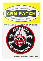 "3-Inch Blackshirts Circle Patch Nebraska Cornhuskers, 3"" Blackshirts Circle Patch"