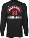 AD ATHL FRONT L/S BLK TEE Nebraska Cornhuskers, husker football, nebraska cornhuskers merchandise, nebraska merchandise, husker merchandise, nebraska cornhuskers apparel, husker apparel, nebraska apparel, husker mens apparel, nebraska cornhuskers mens apparel, nebraska mens apparel, husker mens merchandise, nebraska cornhuskers mens merchandise, mens nebraska t shirt, mens husker t shirt, mens nebraska cornhusker t shirt,Adidas Athletic Front Long Sleeve T-shirt