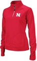 Adidas Ladies Quarter Zip Husker Trainer Jacket Nebraska Cornhuskers, Womens Nu Scoop Neck Crop Top
