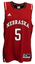 ADIDAS Red Basketball Jersey #5 Nebraska Cornhuskers, Nebraska  Mens Jerseys, Huskers  Mens Jerseys, Nebraska  Mens Jerseys, Huskers  Mens Jerseys, Nebraska  Basketball, Huskers  Basketball, Nebraska ADIDAS Red Basketball Jersey #5, Huskers ADIDAS Red Basketball Jersey #5