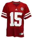 Adidas #15 Replica Game Jersey Nebraska Cornhuskers, Nebraska  Mens Jerseys, Huskers  Mens Jerseys, Nebraska  Mens Jerseys, Huskers  Mens Jerseys, Nebraska Adidas Number 15 Red Jersey, Huskers Adidas Number 15 Red Jersey