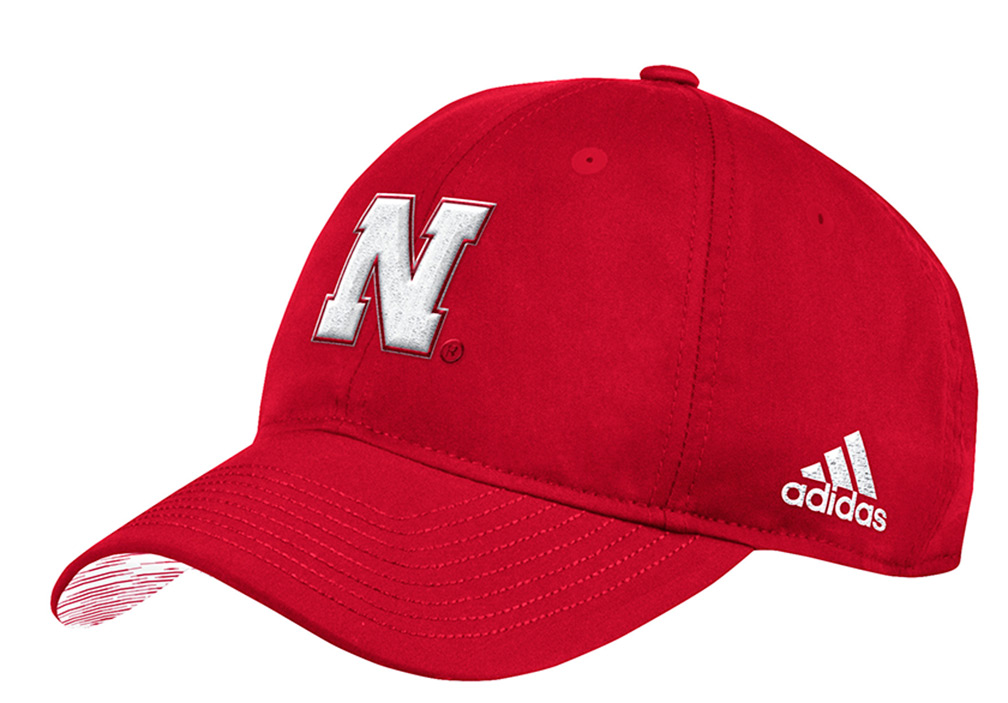 46d8456040d Adidas 2018 Nebraska Coaches Sideline Slouch - Red - HT-B3609 ...