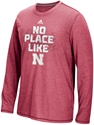 Adidas Aero Knit L/S No Place Like Nebraska Sideline Tee - Red Nebraska Cornhuskers, Nebraska  Long Sleeve, Huskers  Long Sleeve, Nebraska  Mens T-Shirts, Huskers  Mens T-Shirts, Nebraska  Mens, Huskers  Mens, Nebraska Adidas Aero Knit L/S No Place Like Nebraska Sideline Tee - Red, Huskers Adidas Aero Knit L/S No Place Like Nebraska Sideline Tee - Red