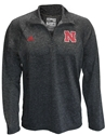 Adidas Black Heather 1/4 Zip Ultimate Tee Nebraska Cornhuskers, Nebraska  Mens, Huskers  Mens, Nebraska  Long Sleeve, Huskers  Long Sleeve, Nebraska  Mens T-Shirts, Huskers  Mens T-Shirts, Nebraska  Zippered, Huskers  Zippered, Nebraska Adidas Black Heather 1/4 Zip Ultimate Tee, Huskers Adidas Black Heather 1/4 Zip Ultimate Tee