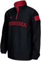 Adidas Black Long Sleeve 1/4 Zip Woven Jacket Nebraska Cornhuskers, Nebraska  Mens Outerwear, Huskers  Mens Outerwear, Nebraska  Mens, Huskers  Mens, Nebraska  Zippered , Huskers  Zippered , Nebraska Adidas Black Long Sleeve 1/4 Zip Woven Jacket, Huskers Adidas Black Long Sleeve 1/4 Zip Woven Jacket