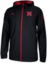 Adidas Black Sideline Full Zip Jacket Nebraska Cornhuskers, Nebraska  Mens Outerwear, Huskers  Mens Outerwear, Nebraska  Mens, Huskers  Mens, Nebraska  Zippered , Huskers  Zippered , Nebraska Adidas Black Sideline Full Zip Jacket, Huskers Adidas Black Sideline Full Zip Jacket