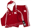 Adidas Girls Full Zip Hooded Fleece Sweatshirt and Pant Set Nebraska Cornhuskers, Nebraska  Infant, Huskers  Infant, Nebraska  Childrens, Huskers  Childrens, Nebraska  Zippered, Huskers  Zippered, Nebraska  Kids, Huskers  Kids, Nebraska Shorts & Pants, Huskers Shorts & Pants, Nebraska Adidas Girls Full Zip Hooded Fleece Sweatshirt and Pant Set, Huskers Adidas Girls Full Zip Hooded Fleece Sweatshirt and Pant Set