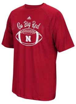 Adidas Go Big Red Nebraska Football Tee Nebraska Cornhuskers, Nebraska  Mens, Huskers  Mens, Nebraska  Mens T-Shirts, Huskers  Mens T-Shirts, Nebraska  Short Sleeve, Huskers  Short Sleeve, Nebraska Adidas GBR Football Tee, Huskers Adidas GBR Football Tee