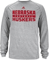 Adidas Grey Nebraska Football Long Sleeve Tee Nebraska Cornhuskers, Nebraska  Mens T-Shirts, Huskers  Mens T-Shirts, Nebraska  Mens, Huskers  Mens, Nebraska  Long Sleeve   , Huskers  Long Sleeve   , Nebraska Adidas Grey Nebraska Football Long Sleeve Tee, Huskers Adidas Grey Nebraska Football Long Sleeve Tee