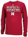 Adidas Grey Respect Long Sleeve Tee Nebraska Cornhuskers, Nebraska  Mens T-Shirts, Huskers  Mens T-Shirts, Nebraska  Mens, Huskers  Mens, Nebraska  Long Sleeve   , Huskers  Long Sleeve   , Nebraska Adidas Grey Respect Long Sleeve Tee, Huskers Adidas Grey Respect Long Sleeve Tee