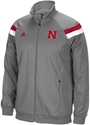 Adidas Grey Warm-Up Jacket Nebraska Cornhuskers, Nebraska  Mens Outerwear, Huskers  Mens Outerwear, Nebraska  Mens, Huskers  Mens, Nebraska  Zippered , Huskers  Zippered , Nebraska Adidas Grey Warm-Up Jacket, Huskers Adidas Grey Warm-Up Jacket