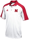 Official Adidas 2016 Coach Riley Home Game Sideline Polo Nebraska Cornhuskers, Nebraska Polo%27s, Huskers Polo%27s, Nebraska  Mens Polo%27s, Huskers  Mens Polo%27s, Nebraska Adidas Hi Vis Husker Climalite White Coaches Polo, Huskers Adidas Hi Vis Husker Climalite White Coaches Polo