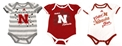 Adidas Husker Girls Infant Body Suit 3-Pack Nebraska Cornhuskers, Nebraska  Infant, Huskers  Infant, Nebraska Adidas Husker Girls Infant Body Suit 3-Pack, Huskers Adidas Husker Girls Infant Body Suit 3-Pack