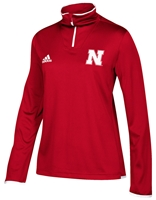Adidas Husker Ladies Iconic Quarter Zip - Red Nebraska Cornhuskers, Nebraska  Ladies Outerwear, Huskers  Ladies Outerwear, Nebraska  Ladies, Huskers  Ladies, Nebraska Adidas Husker Ladies Iconic Quarter Zip - Red, Huskers Adidas Husker Ladies Iconic Quarter Zip - Red