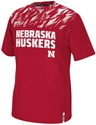 Adidas Husker Shock Energy Performance Crew - Red Nebraska Cornhuskers, Nebraska Polo%27s, Huskers Polo%27s, Nebraska  Mens Polo%27s, Huskers  Mens Polo%27s, Nebraska Adidas Husker Shock Energy Performance Crew - Red, Huskers Adidas Husker Shock Energy Performance Crew - Red