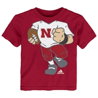 Adidas Huskers Football Player Toddler Tee Nebraska Cornhuskers, Nebraska  Childrens, Huskers  Childrens, Nebraska  Kids, Huskers  Kids, Nebraska Adidas Huskers Football Player Tee, Huskers Adidas Huskers Football Player Tee