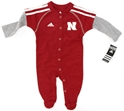 "Adidas Huskers Infant ""Player"" Coverall Nebraska Cornhuskers, Nebraska  Infant, Huskers  Infant, Nebraska Adidas Huskers Infant Player Coverall, Huskers Adidas Huskers Infant Player Coverall"