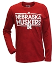 Adidas Toddlers Huskers Long Sleeve Dassler Tee Nebraska Cornhuskers, Nebraska  Childrens, Huskers  Childrens, Nebraska  Kids, Huskers  Kids, Nebraska Adidas Huskers Long Sleeve Dassler Tee, Huskers Adidas Huskers Long Sleeve Dassler Tee