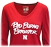 Adidas Huskers Red Burns Brighter Ladies LS Tee - AT-B4004
