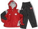 "Adidas Kids ""Coach"" Jacket and Pant Set Nebraska Cornhuskers, Nebraska  Infant, Huskers  Infant, Nebraska  Childrens, Huskers  Childrens, Nebraska  Kids, Huskers  Kids, Nebraska Shorts & Pants, Huskers Shorts & Pants, Nebraska Adidas Kids Coach Jacket and Pant Set, Huskers Adidas Kids Coach Jacket and Pant Set"