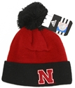 Adidas Kids Knit Cuffed Stocking Cap with Pom Nebraska Cornhuskers, Nebraska  Kids Hats, Huskers  Kids Hats, Nebraska  Childrens, Huskers  Childrens, Nebraska  Kids, Huskers  Kids, Nebraska Adidas Kids Knit Cuffed Stocking Cap with Pom, Huskers Adidas Kids Knit Cuffed Stocking Cap with Pom
