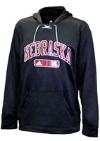 Adidas Lace-Up Nebraska Heat Hoodie  Nebraska Cornhuskers, Nebraska  Mens Sweatshirts, Huskers  Mens Sweatshirts, Nebraska  Mens, Huskers  Mens, Nebraska Black Lace Up Arched Heat Hoodie Adi, Huskers Black Lace Up Arched Heat Hoodie Adi
