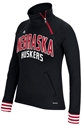 Adidas Ladie Ultimate Quarter Zip Pullover - Black Nebraska Cornhuskers, Nebraska  Zippered, Huskers  Zippered, Nebraska  Crew, Huskers  Crew, Nebraska  Ladies Sweatshirts, Huskers  Ladies Sweatshirts, Nebraska  Ladies, Huskers  Ladies, Nebraska Adidas Ladie Ultimate Quarter Zip Pullover - Black, Huskers Adidas Ladie Ultimate Quarter Zip Pullover - Black