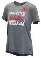 Adidas Ladies Huskers Yola Tee Nebraska Cornhuskers, Nebraska  Ladies T-Shirts, Huskers  Ladies T-Shirts, Nebraska  Ladies, Huskers  Ladies, Nebraska  Short Sleeve, Huskers  Short Sleeve, Nebraska Adidas Ladies Huskers Yola Tee, Huskers Adidas Ladies Huskers Yola Tee