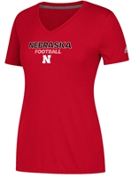 Adidas Ladies Ultimate Rush Nebraska Football V-Neck Tee Nebraska Cornhuskers, Nebraska  Ladies T-Shirts, Huskers  Ladies T-Shirts, Nebraska  Ladies, Huskers  Ladies, Nebraska  Short Sleeve, Huskers  Short Sleeve, Nebraska Adidas Ladies Ultimate Rush Nebraska Football V-Neck Tee, Huskers Adidas Ladies Ultimate Rush Nebraska Football V-Neck Tee