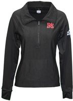 Adidas Ladies Vertical Quarter Zip Nebraska Cornhuskers, Nebraska  Ladies Outerwear, Huskers  Ladies Outerwear, Nebraska  Ladies, Huskers  Ladies, Nebraska Adidas W Black Vertical Qtr Zip N Logo, Huskers Adidas W Black Vertical Qtr Zip N Logo