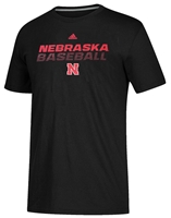 Adidas Nebraska Baseball Performance Tee Nebraska Cornhuskers, Nebraska  Mens T-Shirts, Huskers  Mens T-Shirts, Nebraska  Mens, Huskers  Mens, Nebraska  Baseball, Huskers  Baseball, Nebraska Black SS Goto Bottom Baseball Tee Adi, Huskers Black SS Goto Bottom Baseball Tee Adi