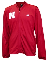 Adidas Husker Warm-Up Full Zip Nebraska Cornhuskers, Nebraska  Mens Sweatshirts, Huskers  Mens Sweatshirts, Nebraska  Mens, Huskers  Mens, Nebraska Red Warm Up Jacket Bball Adi, Huskers Red Warm Up Jacket Bball Adi