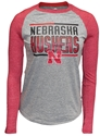 Adidas Nebraska Huskers Bar Stack Raglan Nebraska Cornhuskers, Nebraska  Youth, Huskers  Youth, Nebraska  Kids, Huskers  Kids, Nebraska  Long Sleeve, Huskers  Long Sleeve, Nebraska Adidas Nebraska Huskers Bar Stack Raglan, Huskers Adidas Nebraska Huskers Bar Stack Raglan