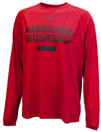 Adidas Nebraska Huskers Chiseled Climalite Nebraska Cornhuskers, Nebraska  Mens T-Shirts, Huskers  Mens T-Shirts, Nebraska  Mens, Huskers  Mens, Nebraska  Long Sleeve, Huskers  Long Sleeve, Nebraska Adidas Red LS Climalite Chiseled , Huskers Adidas Red LS Climalite Chiseled