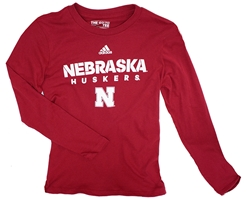 Adidas Nebraska Huskers LS Sideline Youth Tee Nebraska Cornhuskers, Nebraska  Youth, Huskers  Youth, Nebraska  Kids, Huskers  Kids, Nebraska Red LS Sideline Youth Tee Adi, Huskers Red LS Sideline Youth Tee Adi