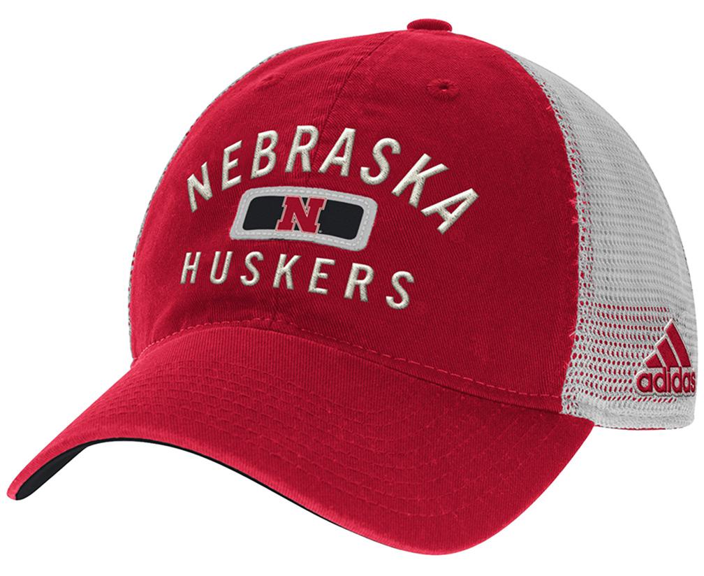 9e00cc53089e0 Adidas Nebraska Huskers Red N White Slouch Hat - HT-96044 ...