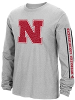 Adidas Nebraska Huskers Sleeve Play Nebraska Cornhuskers, Nebraska  Mens T-Shirts, Huskers  Mens T-Shirts, Nebraska  Mens, Huskers  Mens, Nebraska  Long Sleeve, Huskers  Long Sleeve, Nebraska Adidas Gray LS  Go To Sleeve Play, Huskers Adidas Gray LS  Go To Sleeve Play