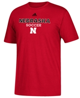 Adidas Nebraska Soccer Rush Tee Nebraska Cornhuskers, Nebraska  Mens T-Shirts, Huskers  Mens T-Shirts, Nebraska  Mens, Huskers  Mens, Nebraska  Other Sports, Huskers  Other Sports, Nebraska  Short Sleeve, Huskers  Short Sleeve, Nebraska Adidas Nebraska Soccer Rush Tee, Huskers Adidas Nebraska Soccer Rush Tee