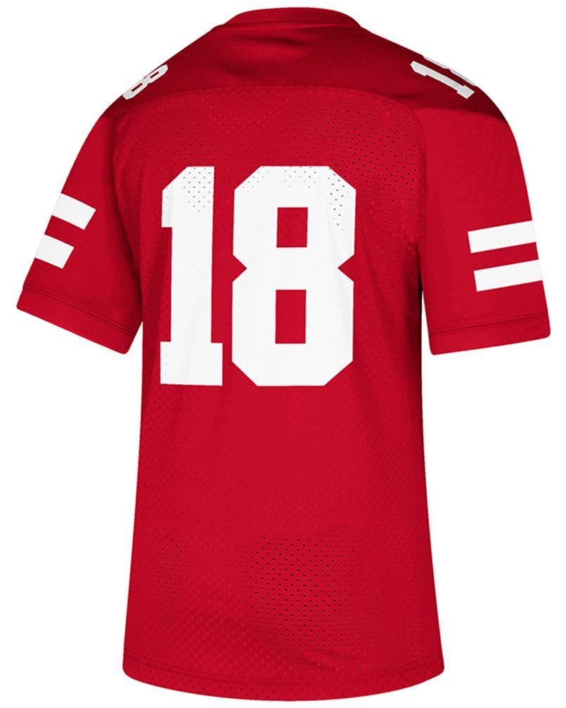 31dda4469 Adidas No. 18 Nebraska Football Replica Jersey