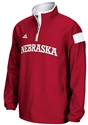 Adidas Red Long Sleeve 1/4 Zip Woven Jacket Nebraska Cornhuskers, Nebraska  Mens Outerwear, Huskers  Mens Outerwear, Nebraska  Mens, Huskers  Mens, Nebraska  Zippered , Huskers  Zippered , Nebraska Adidas Red Long Sleeve 1/4 Zip Woven Jacket, Huskers Adidas Red Long Sleeve 1/4 Zip Woven Jacket