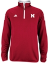 Adidas Red Sideline Long Sleeve 1/4 Zip Knit Nebraska Cornhuskers, Nebraska  Mens Outerwear, Huskers  Mens Outerwear, Nebraska  Mens, Huskers  Mens, Nebraska  Zippered , Huskers  Zippered , Nebraska Adidas Red Sideline Long Sleeve 1/4 Zip Knit, Huskers Adidas Red Sideline Long Sleeve 1/4 Zip Knit
