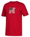 Adidas  Stars N Stripes Logo Tee - Red Nebraska Cornhuskers, Nebraska  Mens T-Shirts, Huskers  Mens T-Shirts, Nebraska  Short Sleeve, Huskers  Short Sleeve, Nebraska  Mens, Huskers  Mens, Nebraska Adidas  Stars N Stripes Logo Tee - Red, Huskers Adidas  Stars N Stripes Logo Tee - Red